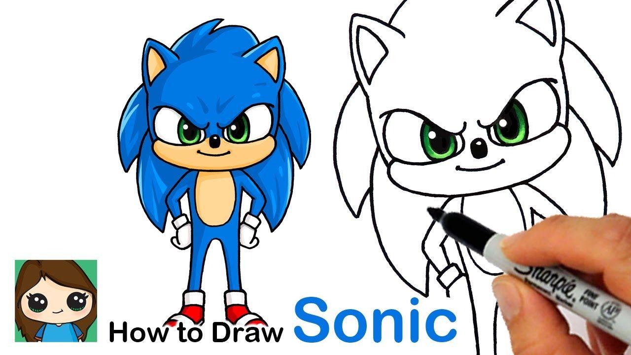 How To Draw Sonic The Hedgehog New Youtube In 2020 Tekenen