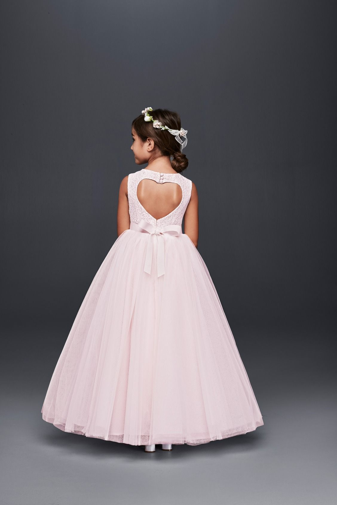 For The Little Sweetheart A Heart Cut Out Pink Ball Gown Flower