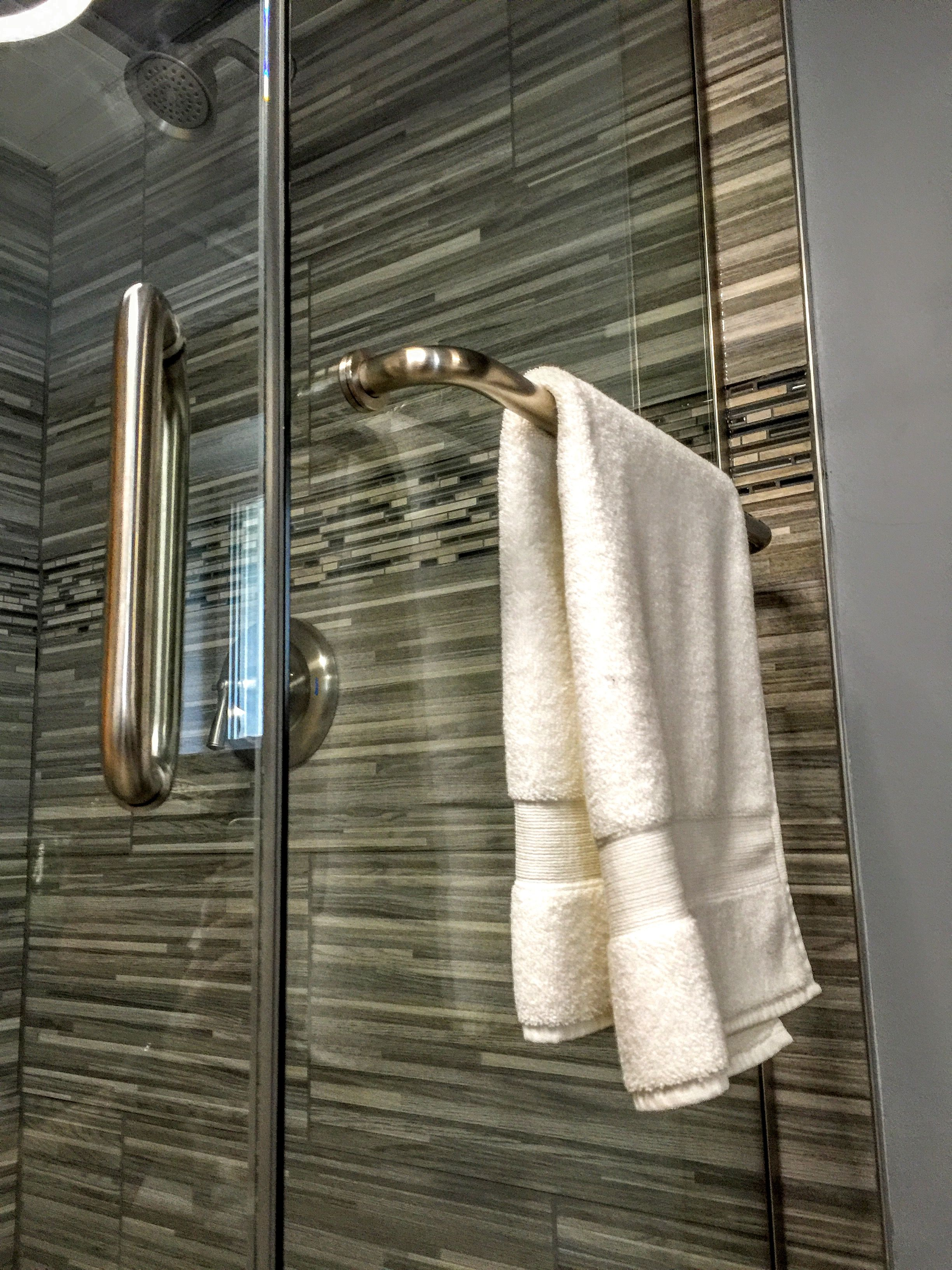 Have A Glass Shower Enclosure And Would Like To Add Towel Bar No