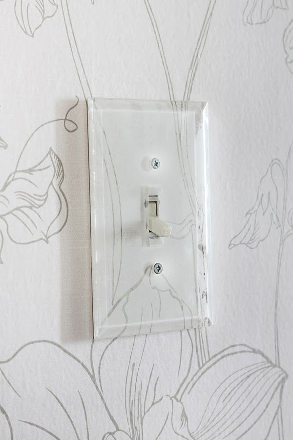 Clear Switch Plate Covers Over Wallpaper