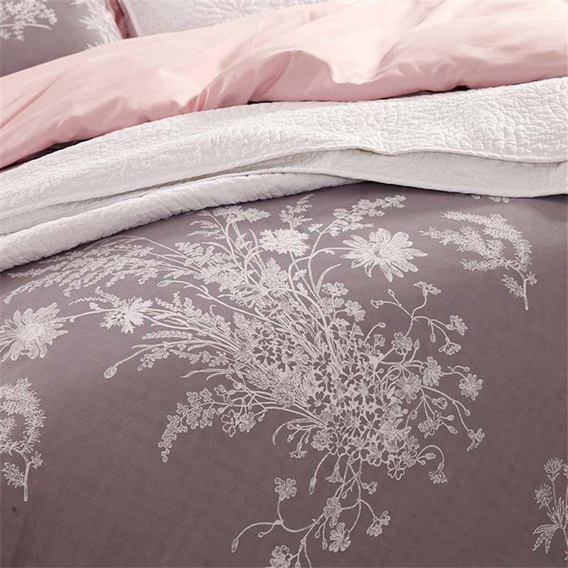 Photo of Rural Simple Bedding Set Anti Dust Mites Bedclothes with Spray Pri…