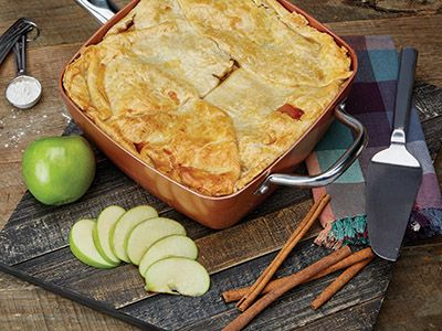 apple pie recipes comfort foods in copper sq pan pinterest. Black Bedroom Furniture Sets. Home Design Ideas