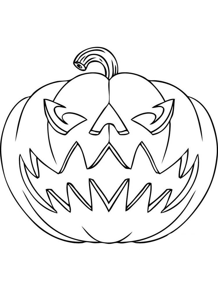Jack O Lantern Coloring Pages Printable Halloween Celebrations