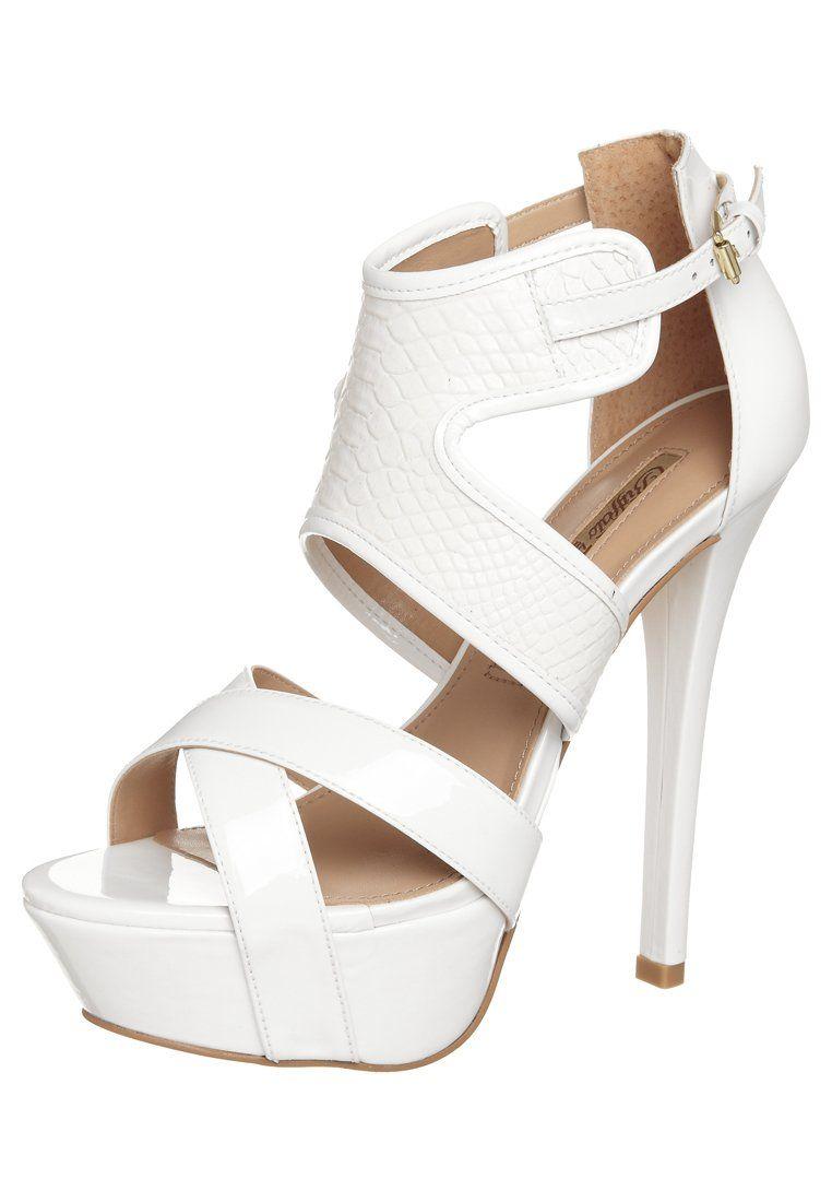 Buffalo High heeled sandals - white Xo2C4