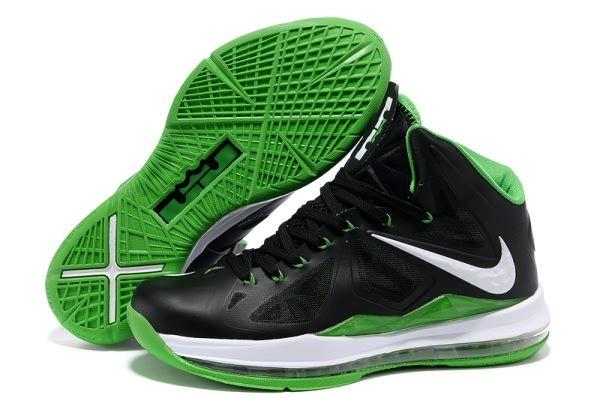 Nike Air Max LeBron James X BlackGreen Basketball shoes