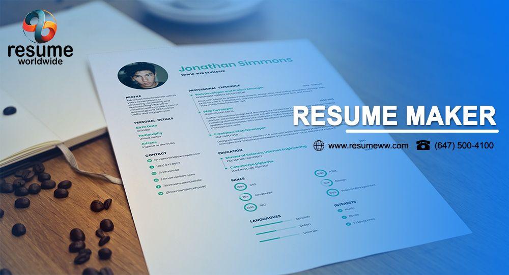 Resume Maker in 2020 Resume maker, Resume, Freewriting