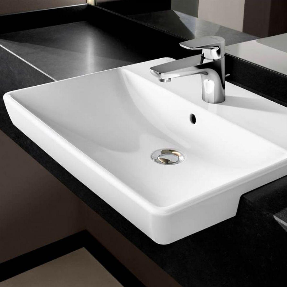 Villeroy Boch Avento Semi Recess Washbasin Washbasin Bathroom Wash Basin Villeroy Boch Inset Basin