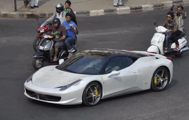 Ferrari 458 Italia White In HYDERABAD