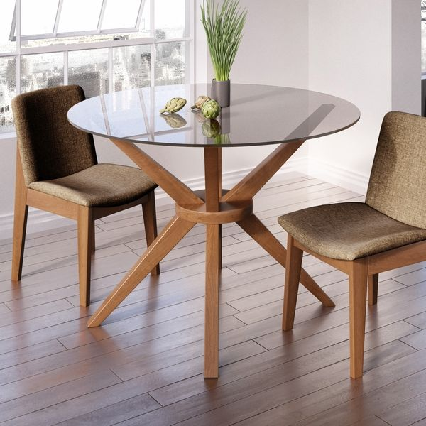 Magna Round Glass Dining Table Glass round dining table