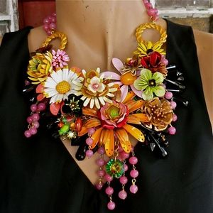 Wendy Baker Designs. Combining vintage and new components to make these wonderful bold necklaces.