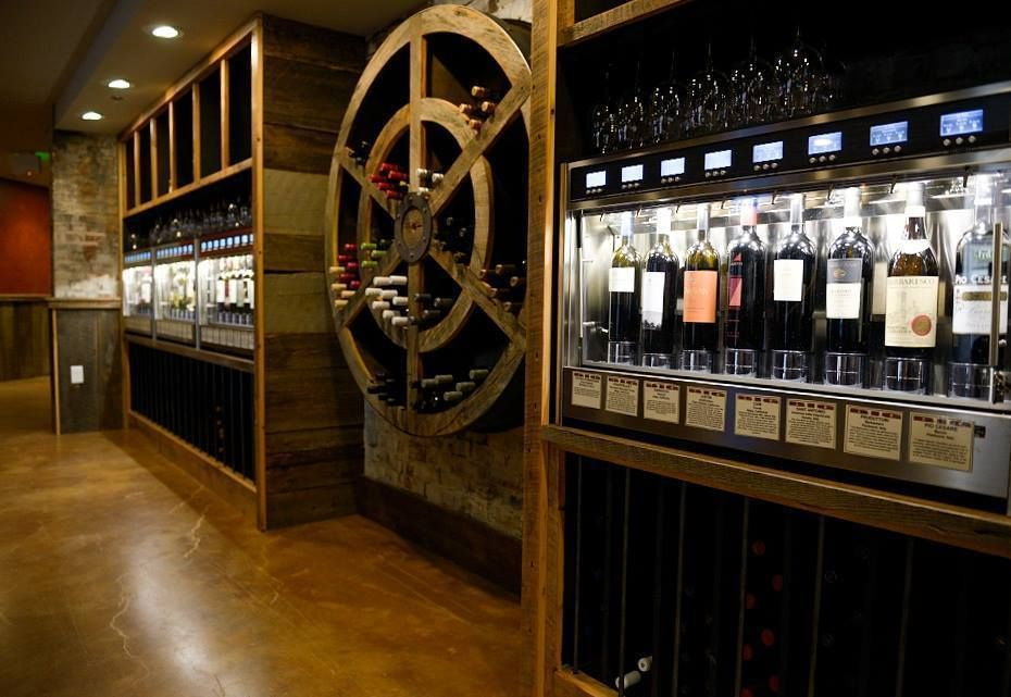 Sip Kitchen And Wine Bar Offers 72 Bottles Of Wine From Self Pour Machines Wine Bar Wine Bottle Baltimore Bars