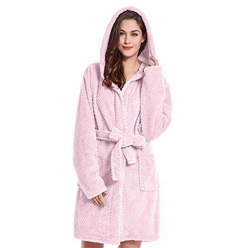 DecoKing 37478 Bademantel XS rosa kurz Damen Herren Unisex mit ...