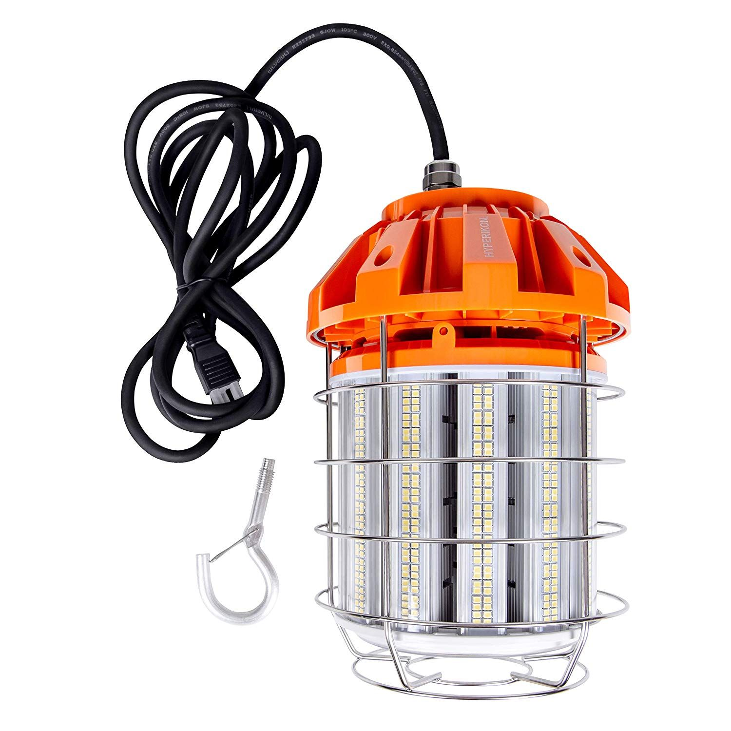 Hyperikon 125w Led Temporary Work Light Hanging For Construction Workshop Jobsite Corded Portable Led Work Light Fix Led Work Light Work Lights Led Drop Light