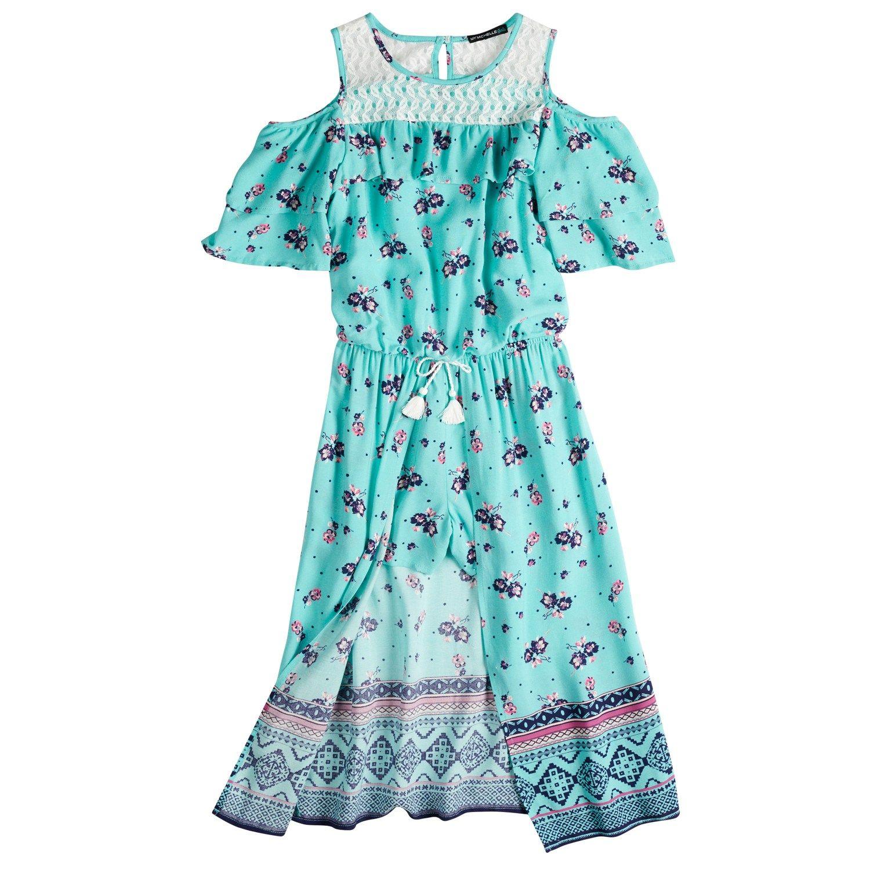 cfd82b232c2 Girls 7-16 My Michelle Cold Shoulder Walk-Through Dress in 2018 ...