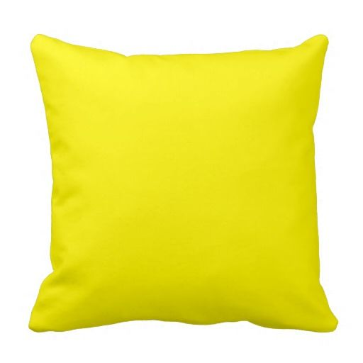 Sunny Bright Yellow Throw Pillow Zazzle Com Orange Throw