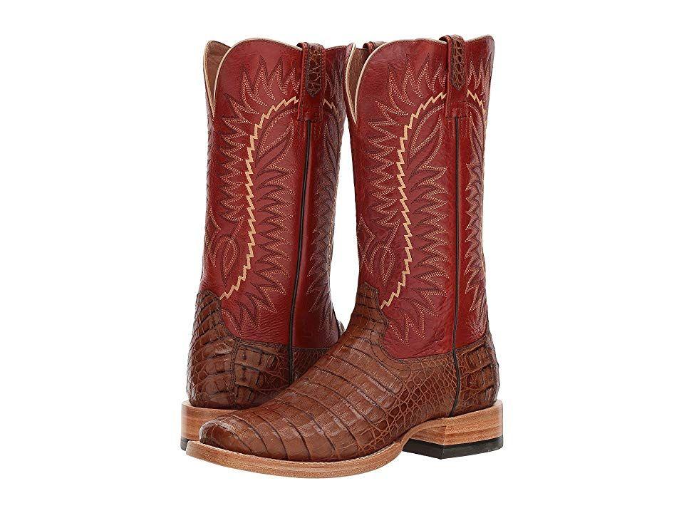 b368f28f466 Ariat Relentless Gold Buckle Cowboy Boots Caramel Caiman Belly ...