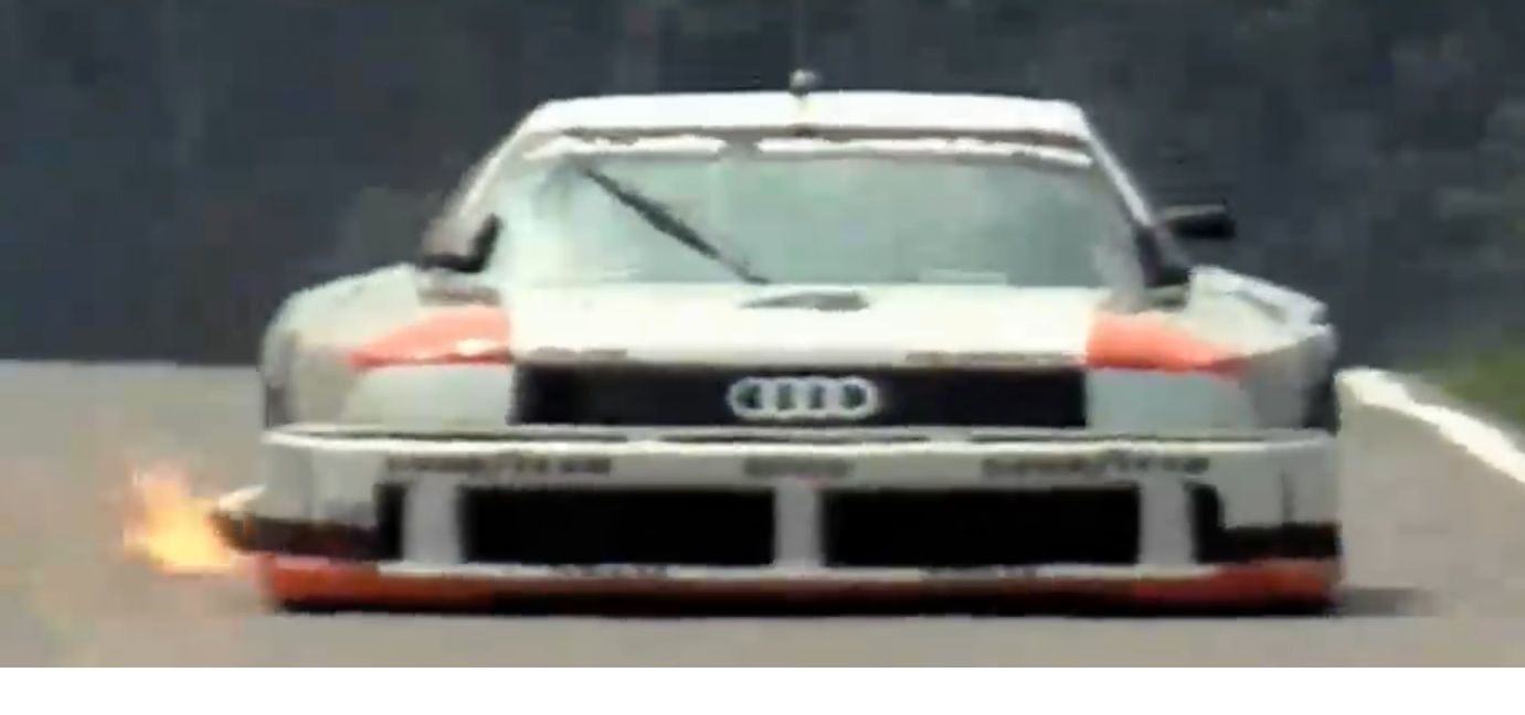 Throwbackthursday with a sick ride.  Who knows how many cylinders was in this Audi?