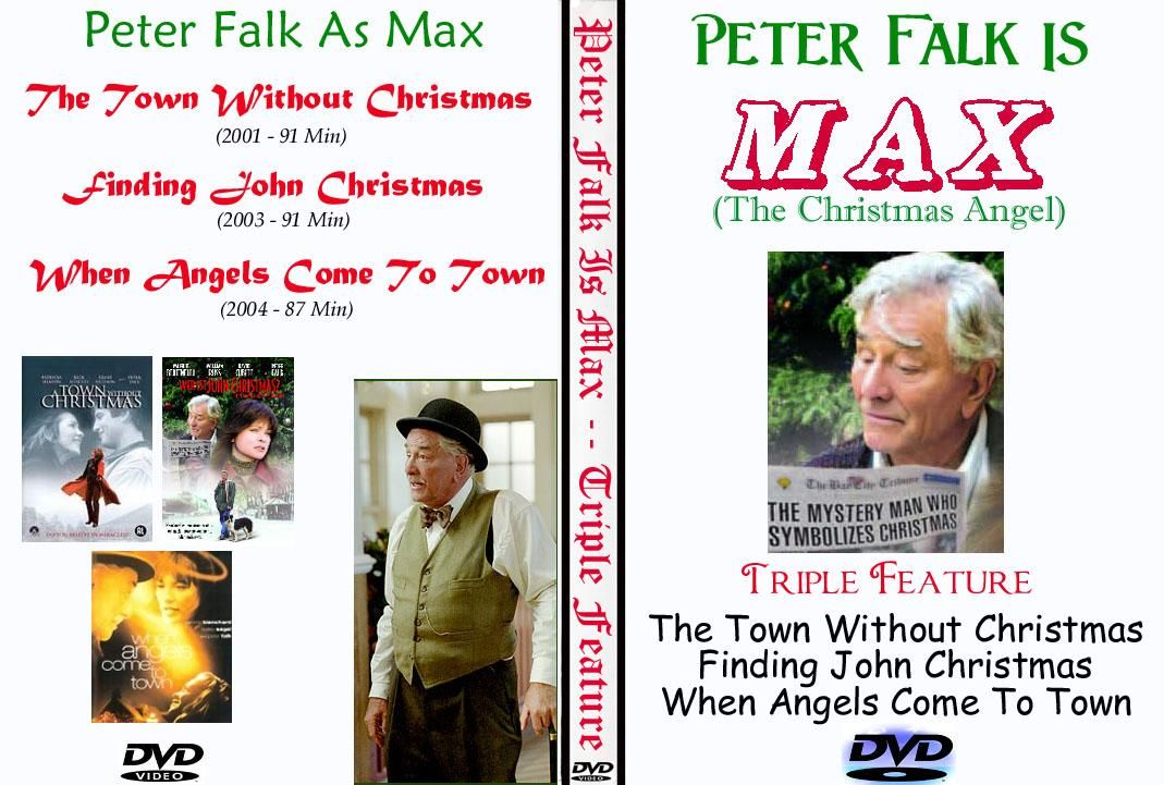 Finding John Christmas.Peter Falk Christmas Dvd Triple Feature Angel Max Finding