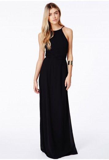 Pascaline High Neck Strappy Maxi Dress - Dresses - Maxi Dresses ...