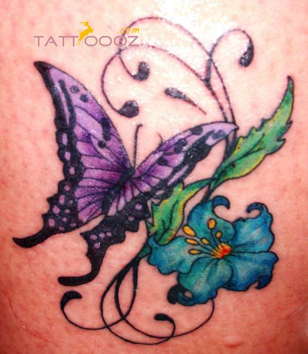 Butterfly And Flower Tattoo Designs Photo:  This Photo was uploaded by tattoooz1. Find other Butterfly And Flower Tattoo Designs pictures and photos or u...