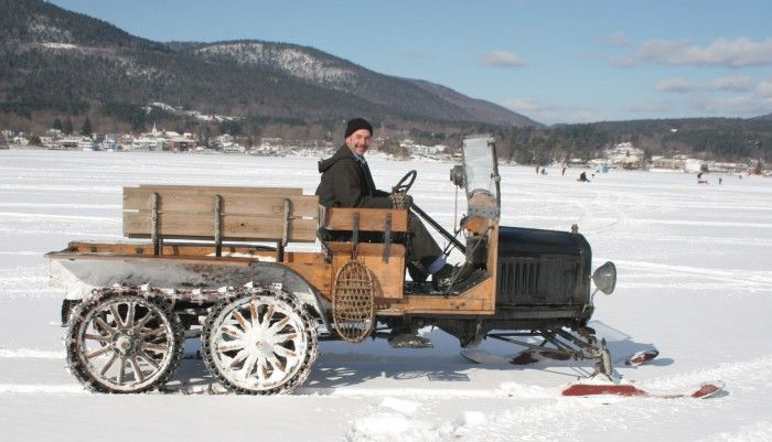 Model T Ford Snowmobile Club Heads To Stowe Vermont For Ford Classic Cars Vintage Cars Classic Trucks