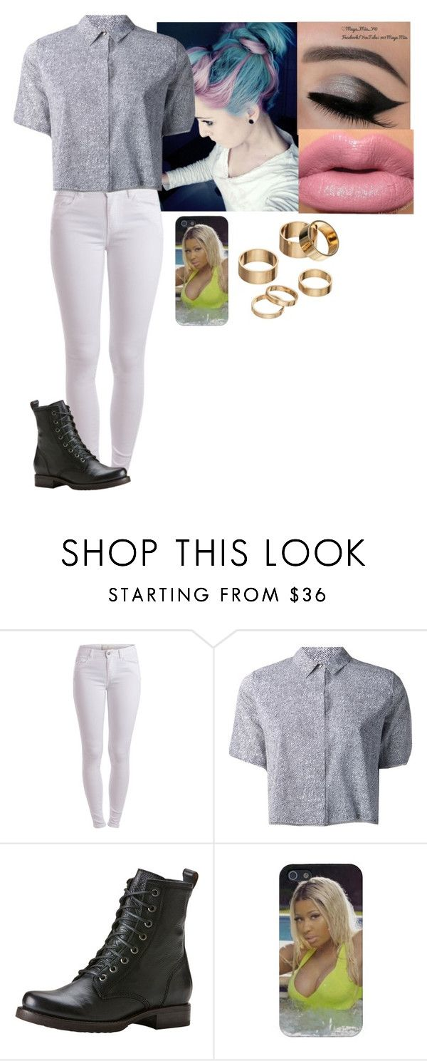 """""""Hannah Hart"""" by courtney-paige-mcintosh ❤ liked on Polyvore featuring Pieces, T By Alexander Wang, Frye and Apt. 9"""