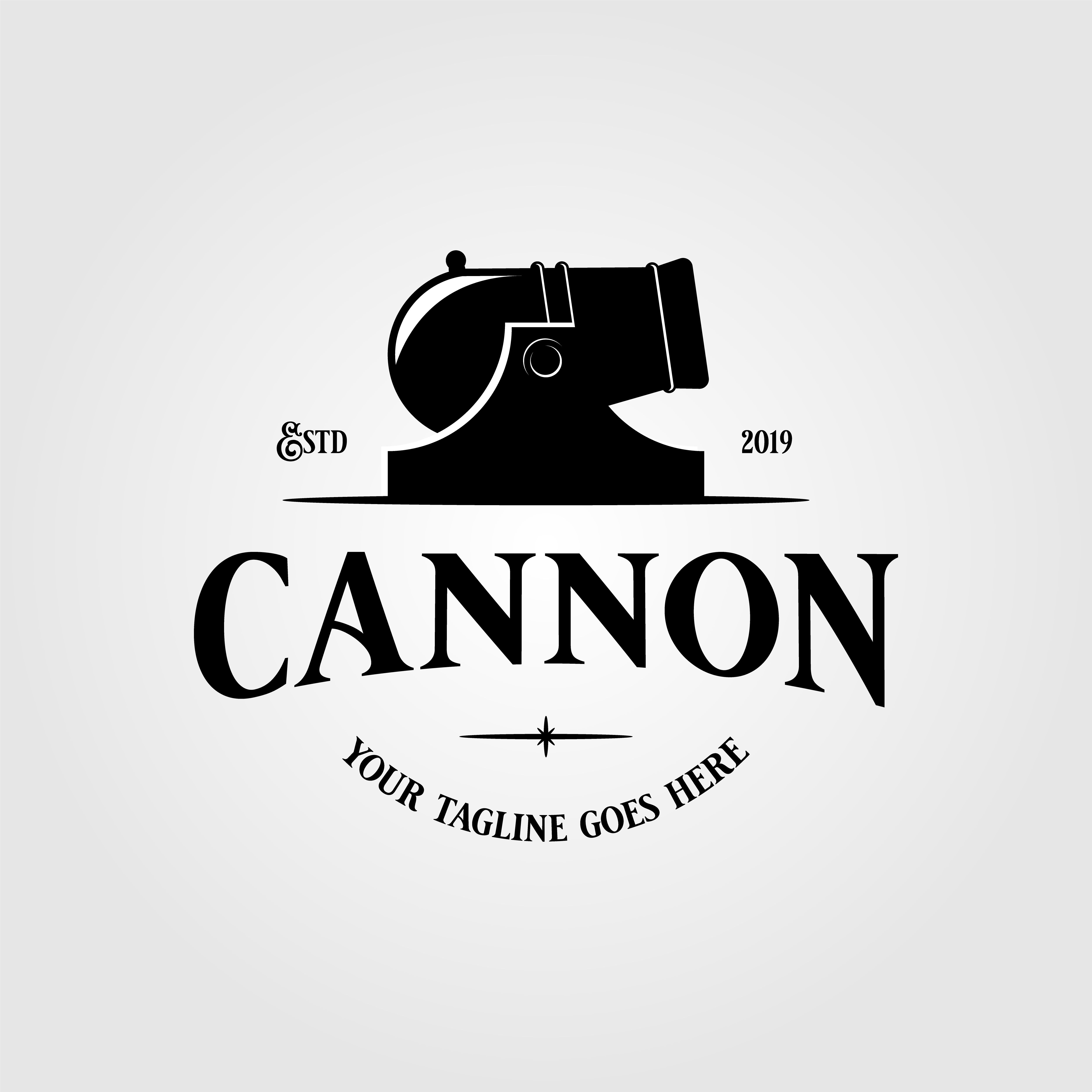 Cannon icon vector isolated on white background for your