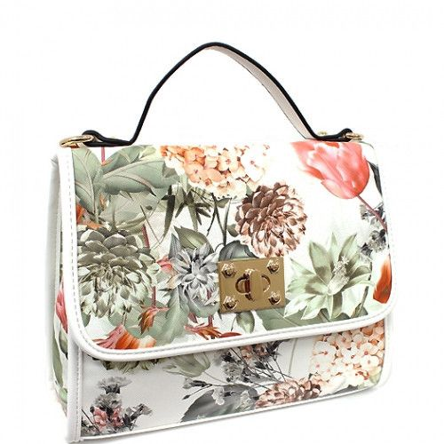 High Definition Floral Print Fashion Satchel Bag | Definitions ...