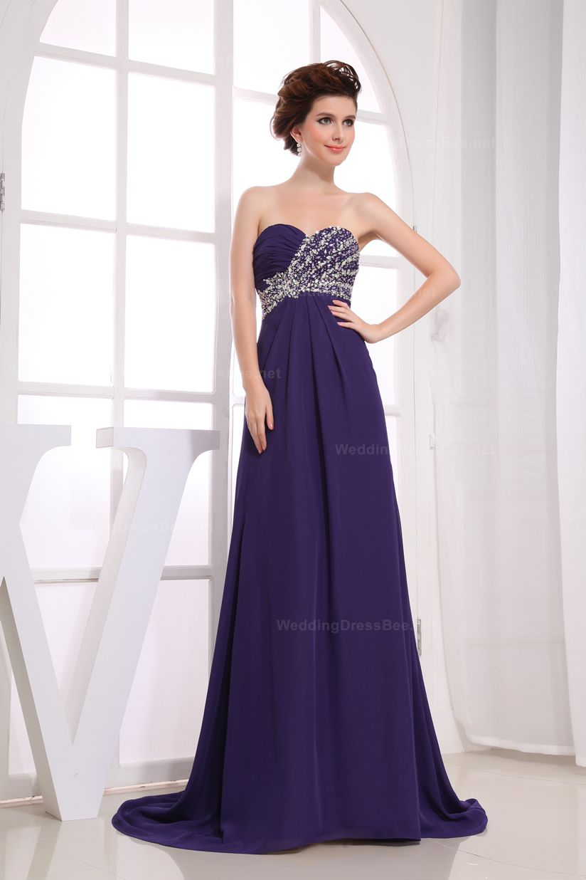 Elegant Strapless Half Beaded Ruched Top Evening Dress | Vestidos ...