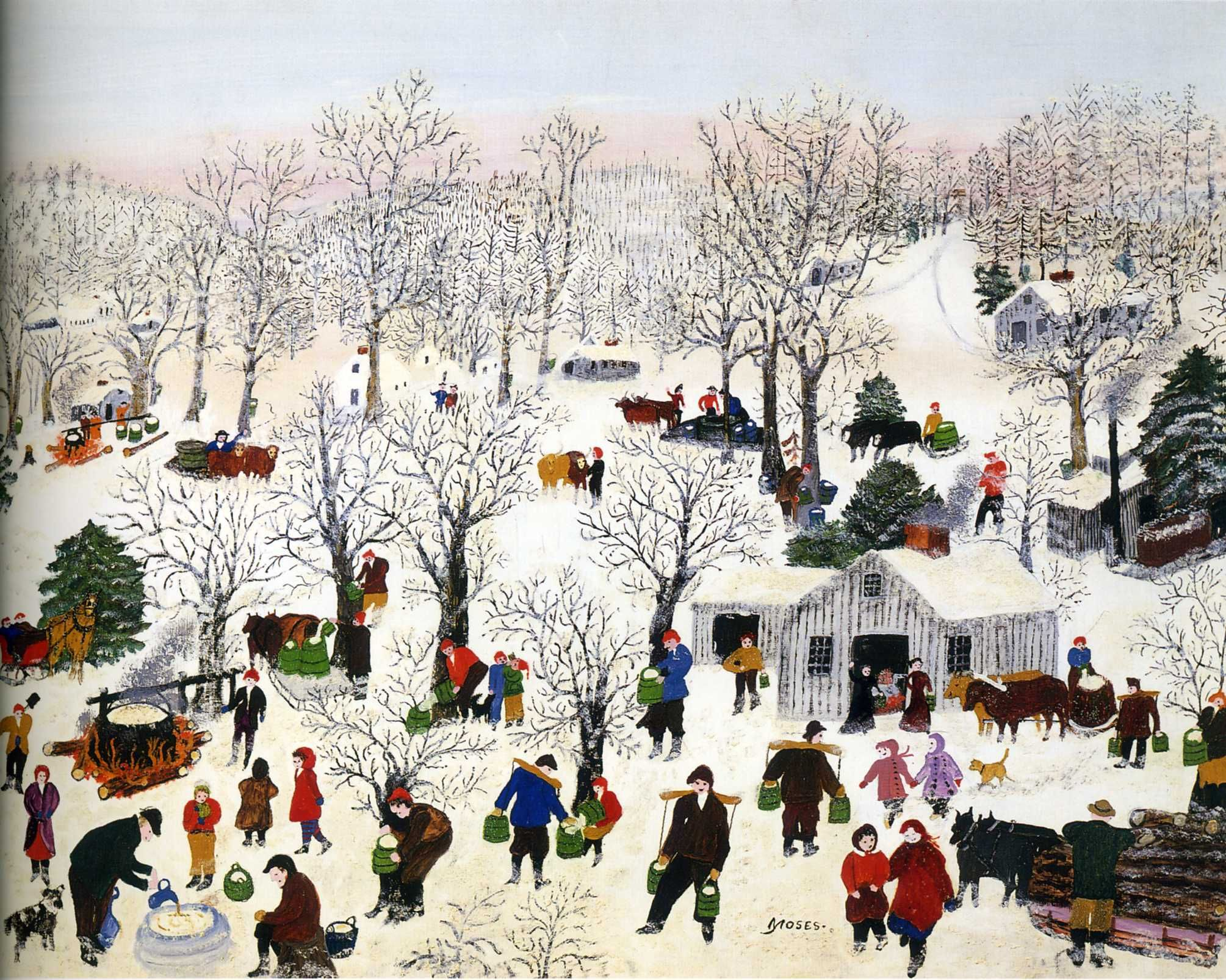 Image result for grandma moses paintings