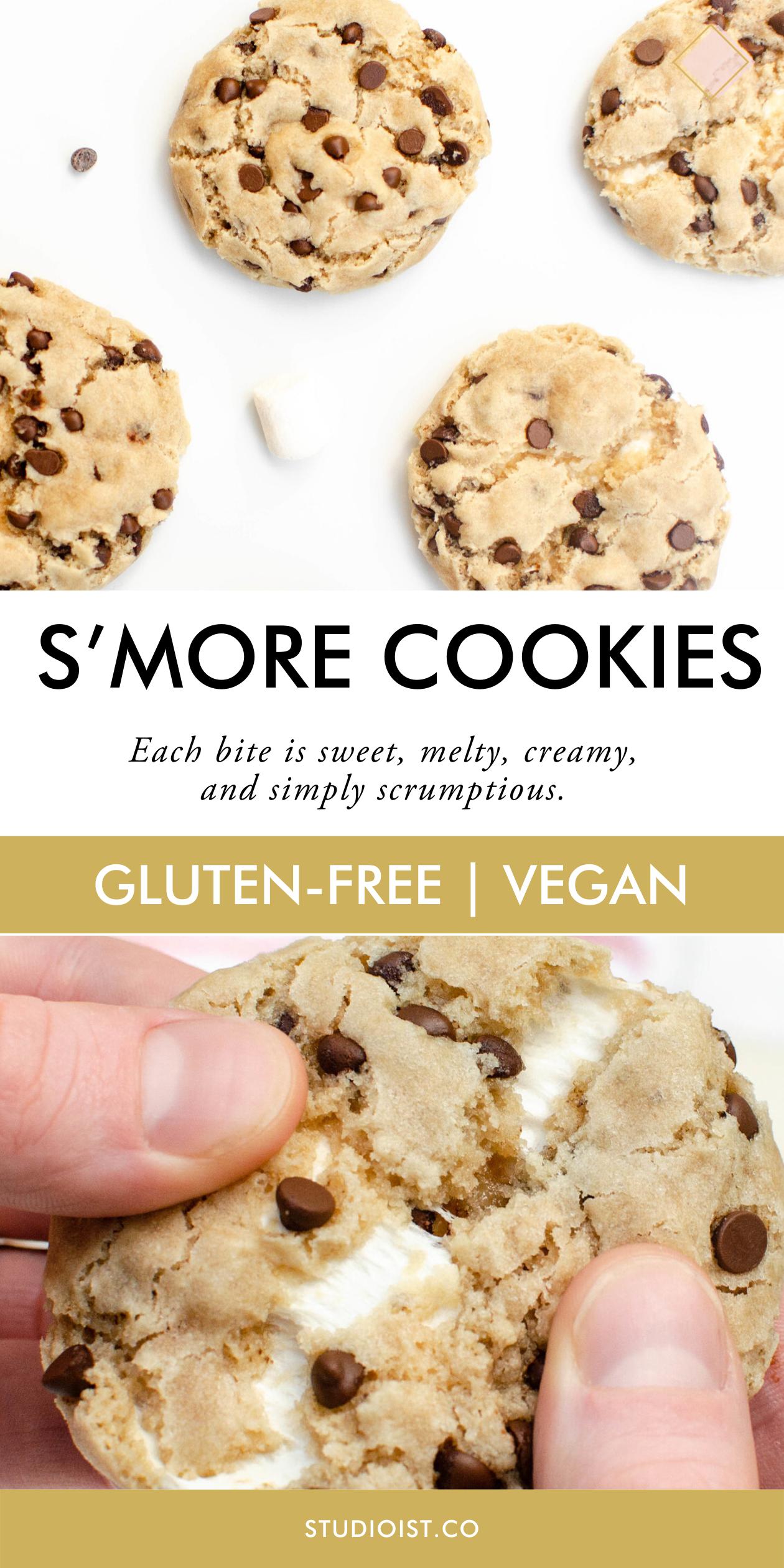 Gluten Free Vegan S More Cookies Studioist In 2020 Vegan Sweets Vegan Cookies Free Desserts