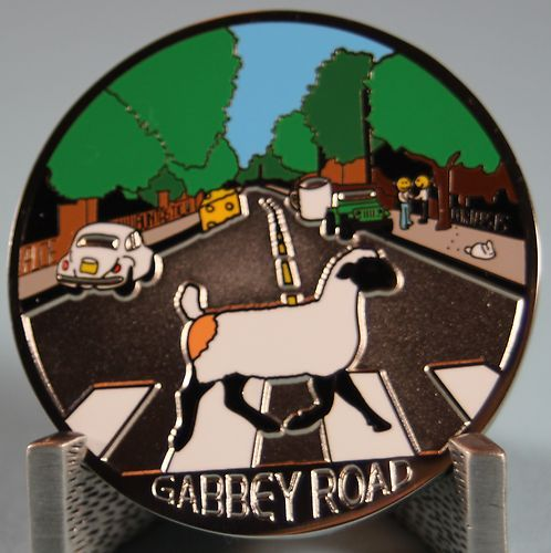 Gabbey Road Chat Happens Geocoin Non Trackable Silver | eBay