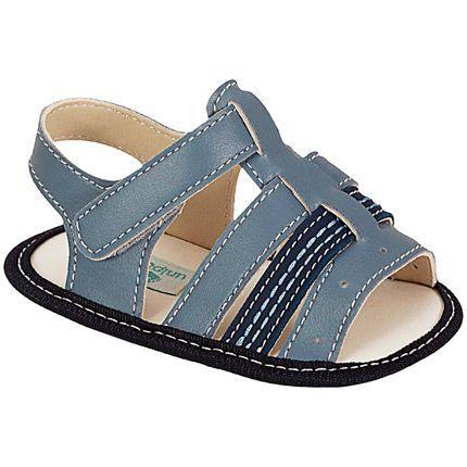 Sandália para bebê Jeans Azul - Unipasso