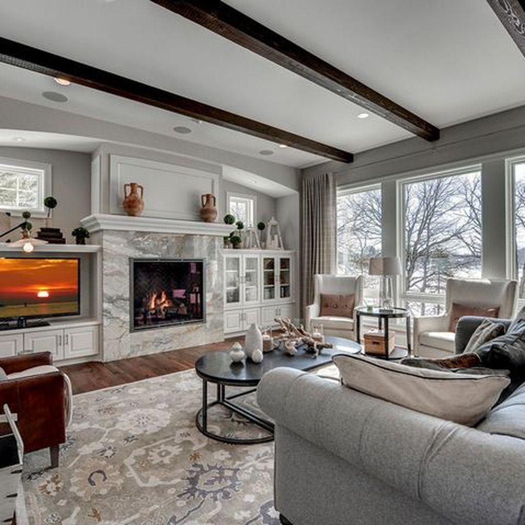 36 Wonderful Living Room Ideas With Fireplace Design images