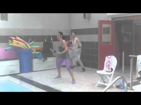 pinjennifer beam on zumba routines  water exercises