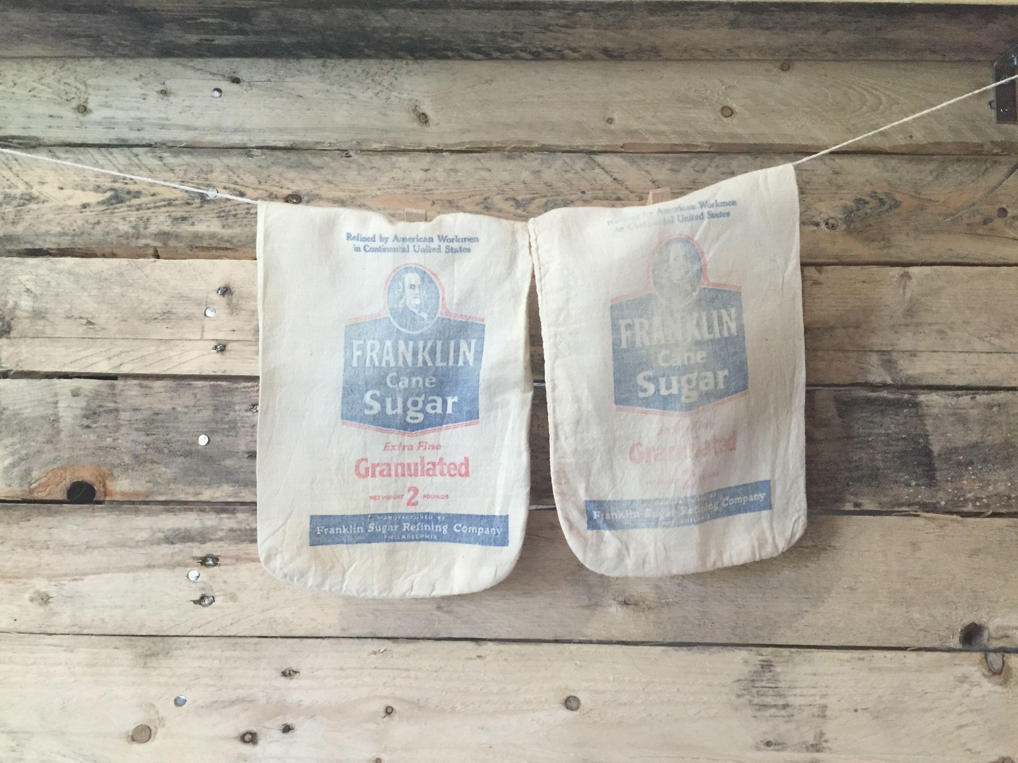 Old Philadelphia Sugar Sacks Pt 1 Franklin Sugar Refining Company Sack Vintage Love Laundry Bag