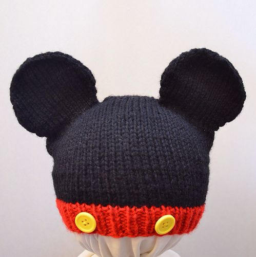 123d46e1f Mickey and Minnie Mouse Knit Hat pattern by Cynthia Diosdado | Hats ...