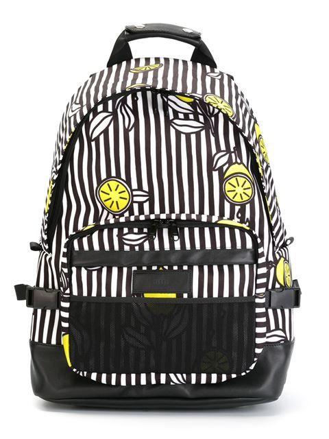 Ami Alexandre Mattiussi lemon and stripe print backpack