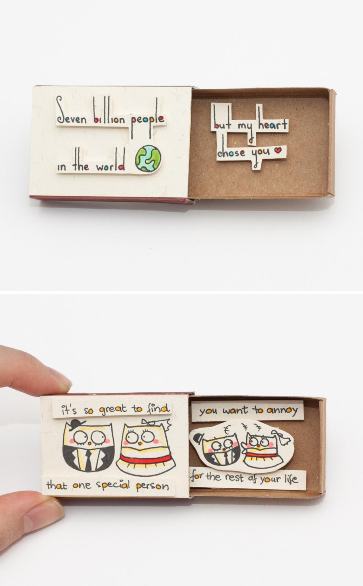 Culturenlifestyle Matchbox Crafts Boyfriend Crafts Diy Gifts For Boyfriend