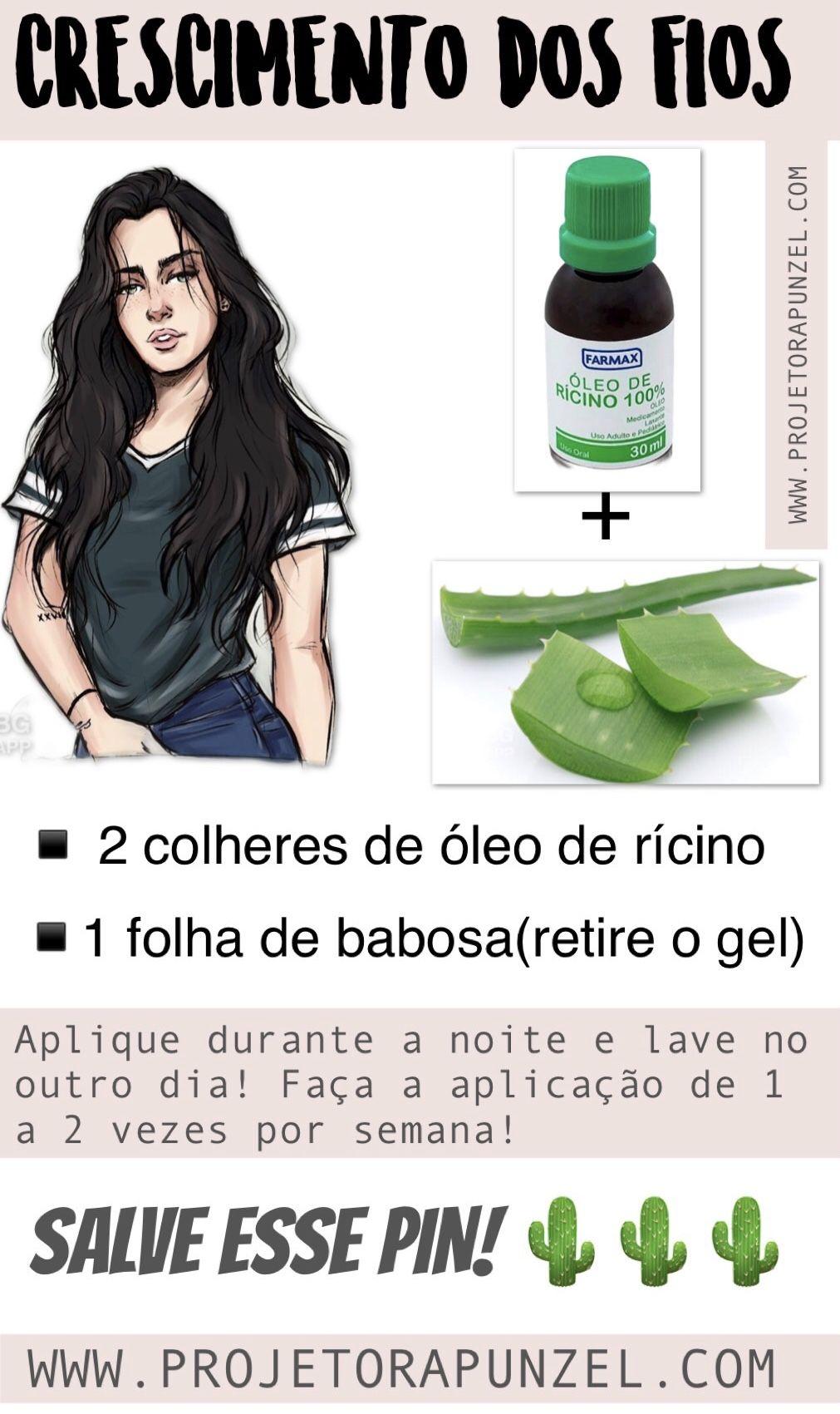 RECEITA PARA O CRESCIMENTO DOS FIOS  #cabelo