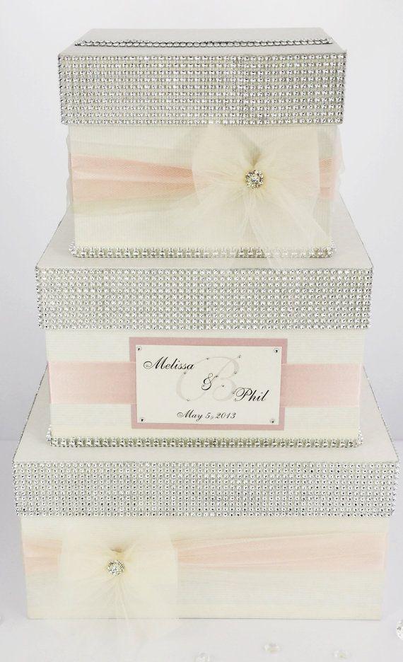 Card Box Wedding Box Wedding Money Box 3 Tier Personalized On Etsy 89 00 Card Box Wedding Money Box Wedding Wedding Gift Card Box