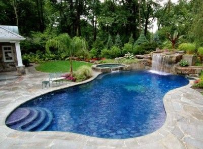 Modelos de piscina para casas rusticas buscar con google jardin pinterest - Piscinas rusticas ...