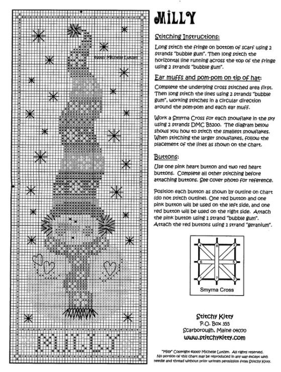 Gallery.ru / Фото #1 - Снеговики - anethka   Cross stitch patterns ...
