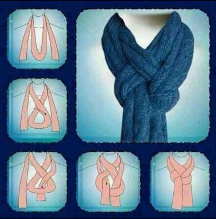 Cool way to wear scarf