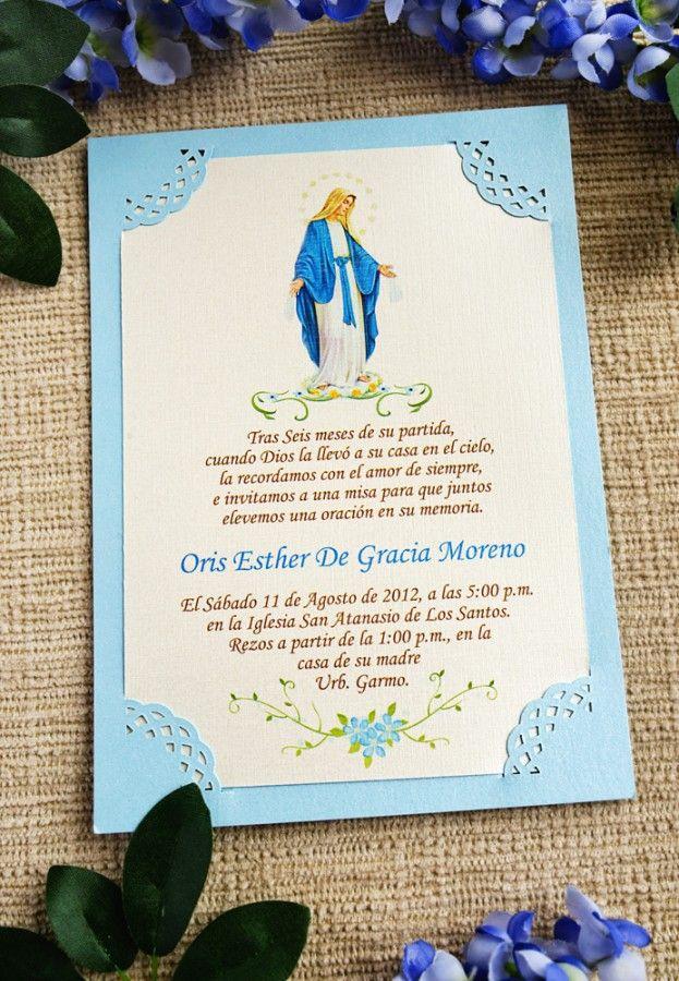 Invitaciones Para Misas De Aniversario Tarjetas De