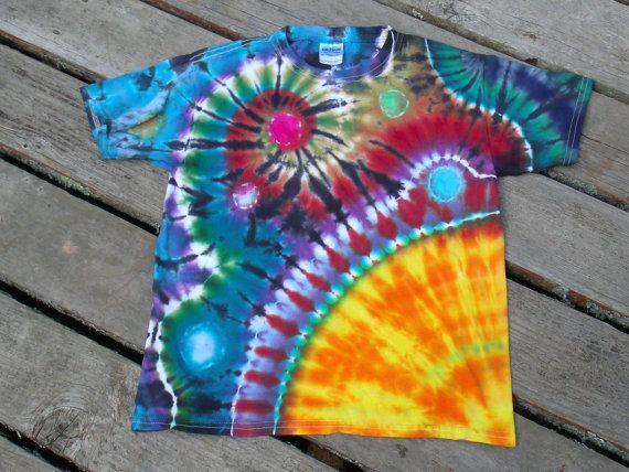 how to make triple spiral tie dye