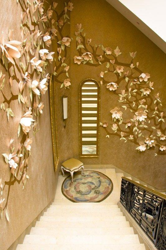 Paper Flower Wall Art - wooow | Flowers | Pinterest | Flower, Walls ...