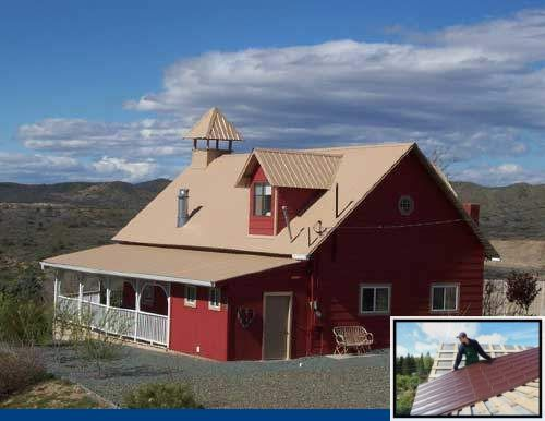 Best Metal Roof Color For Tan House And Ab Martin Metal 400 x 300
