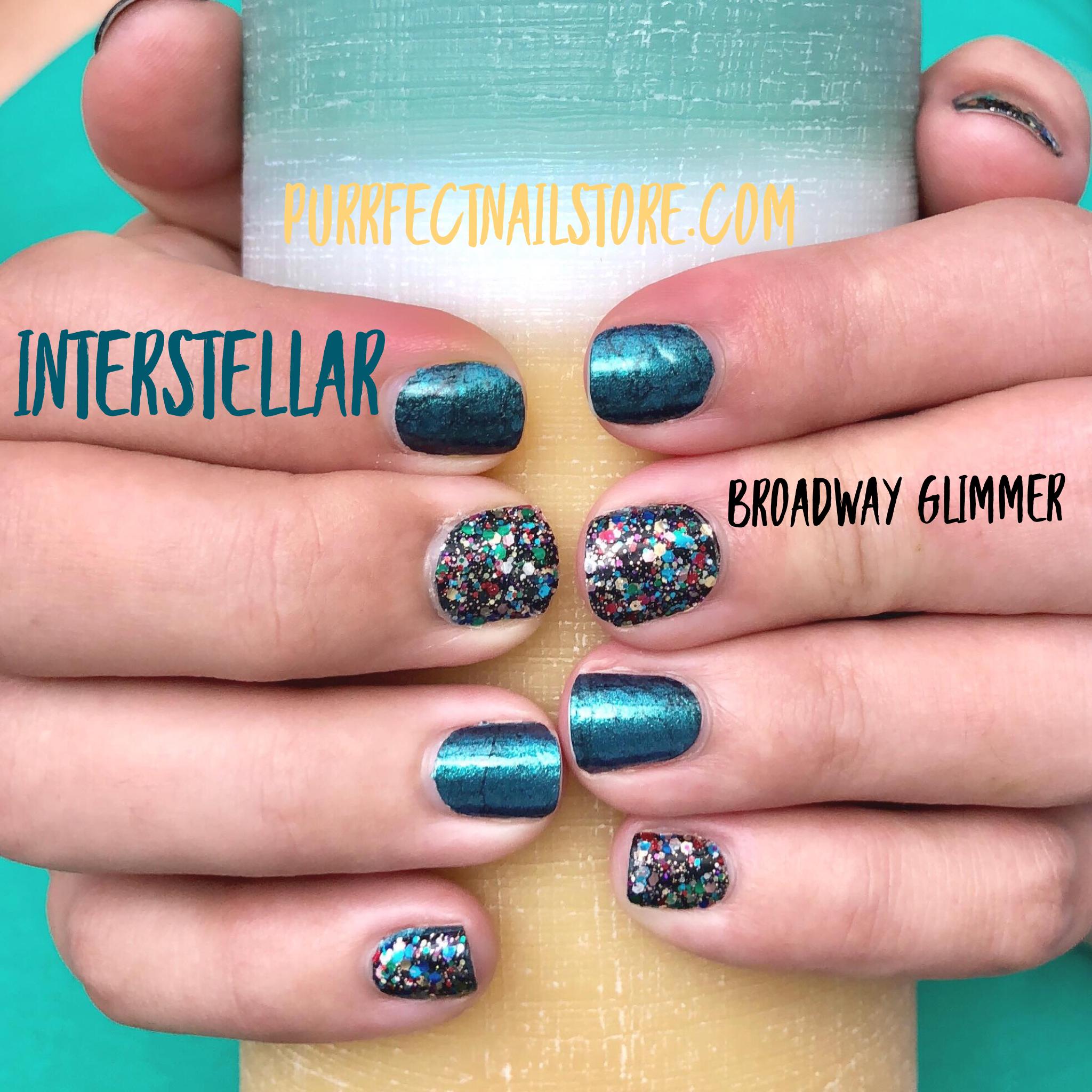 Color Street Interstellar Broadway Glimmer Color Street Nails Orange Nail Designs Nail Colors