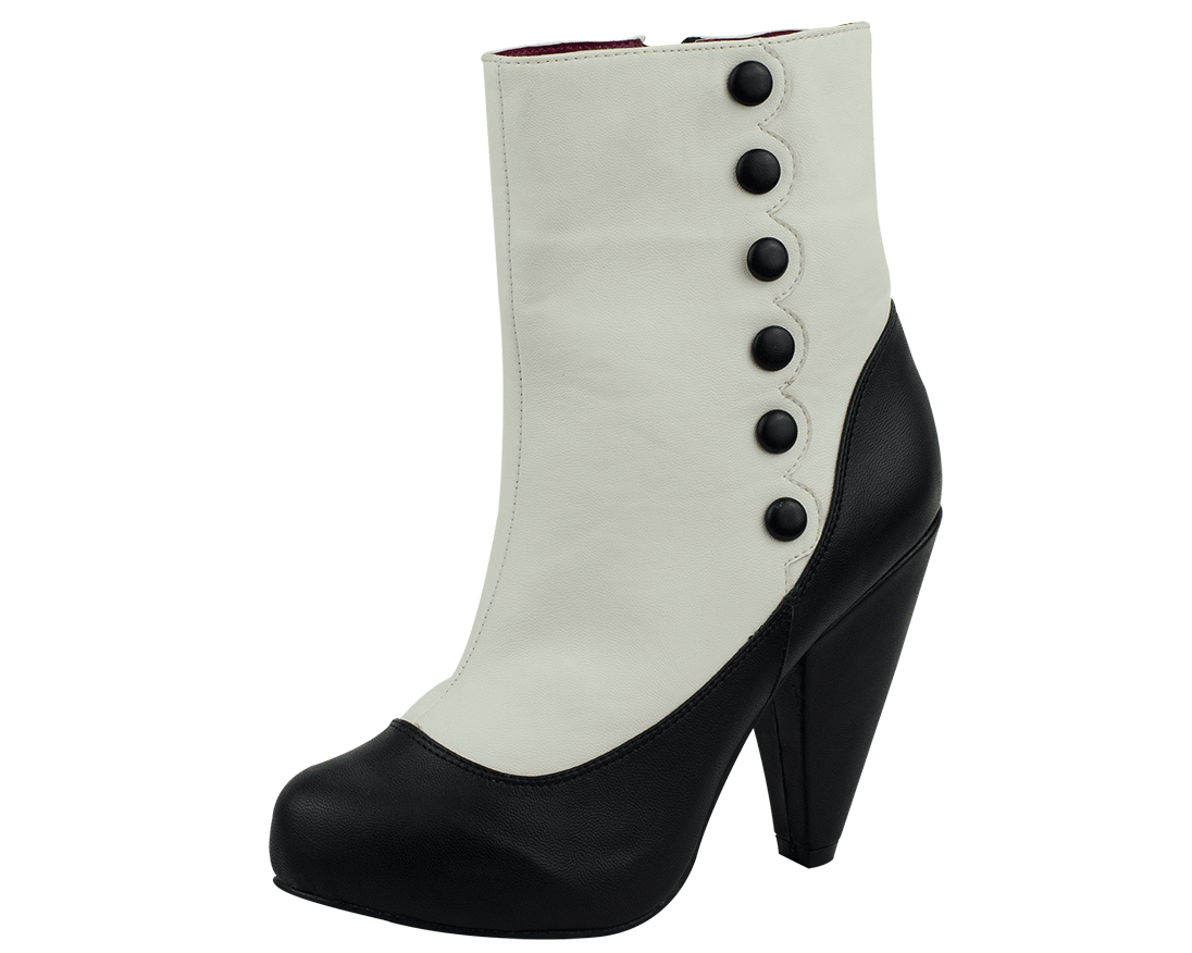 Black & Ivory Rockabilly Boots - T.U.K. Shoes | T.U.K. Shoes